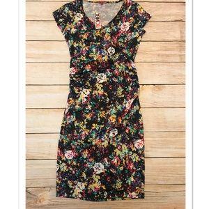 Colorful Bodycon Midi Dress Size Large *